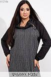 Прямое платье из ангоры в клетку в больших размерах с длинным рукавом vN5886, фото 3