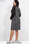 Прямое платье из ангоры в клетку в больших размерах с длинным рукавом vN5886, фото 7