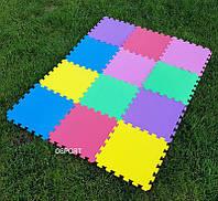 Детский игровой коврик-пазл (мат татами, ласточкин хвост) OBABY 30cм х 30cм толщина 10мм (FI-0133-1)
