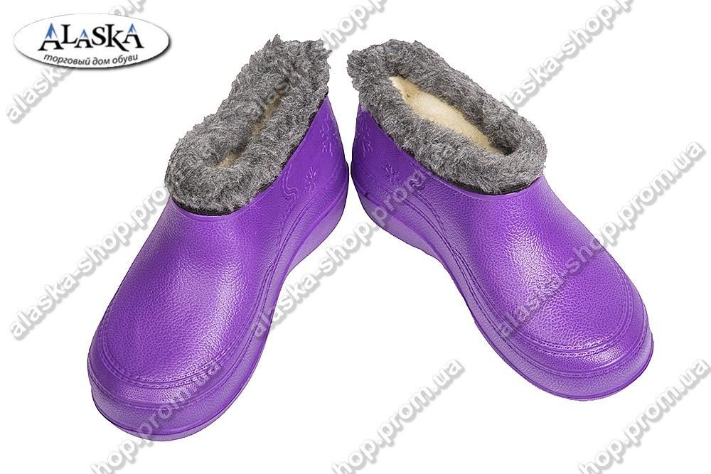 Женские галоши фиолетовые (Код: TS снеж)