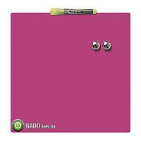 Доска NOBO магнитно - маркерная 36 Х 36 см (розовая)