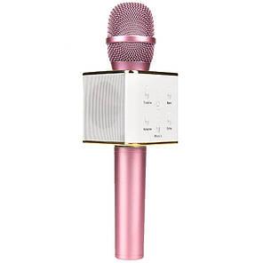 Беспроводной микрофон для караоке Q7 Розовый, фото 2