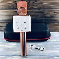 Беспроводной микрофон для караоке Q7 Розовый, фото 3