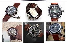 Наручные мужские армейские часы Amst Watch Коричневые, фото 3