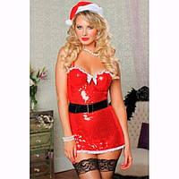Карнавальный костюм на новый год - мисис Санта (Снегурочка)