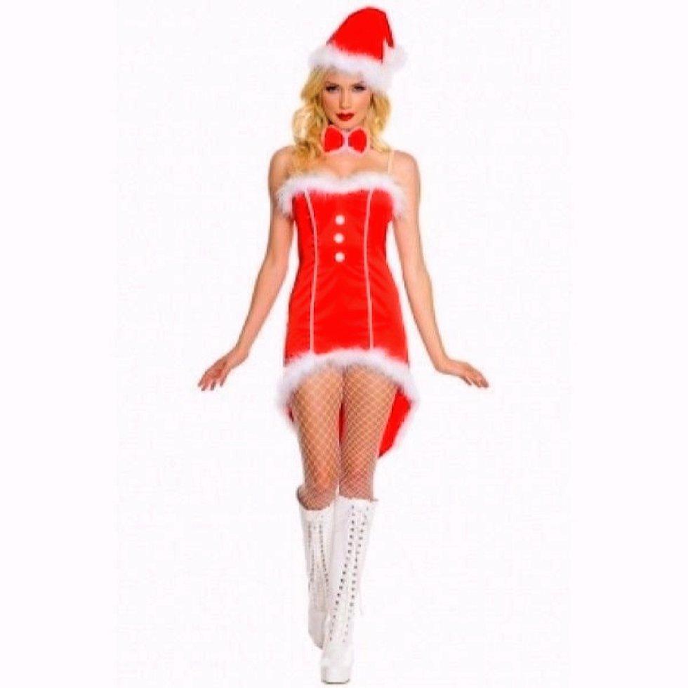 Карнавальный костюм на новый год - подружка Санты (Снегурочка)