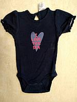 Бодік для дівчинки 062 см (2-3 months) чорний короткий рукав Impidimpi 54982
