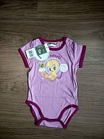 Бодік для дівчинки 086 см (12-18 months) рожевий короткий рукав Disney 43542