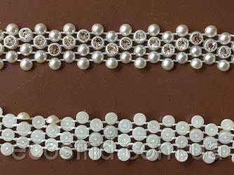Жемчуг половинка на нитке № AA 139 (UMG-0459)