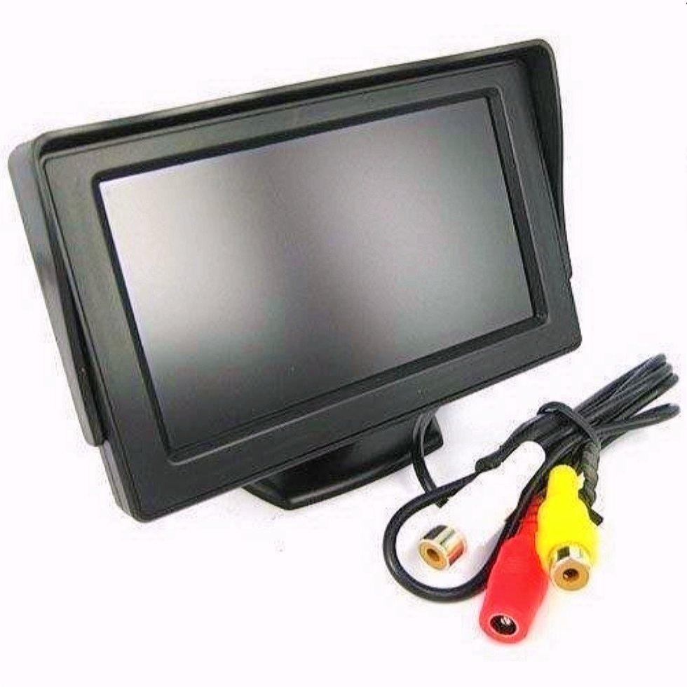 Монітор для камери заднього виду Terra LCD Color 5 дюймів Чорний