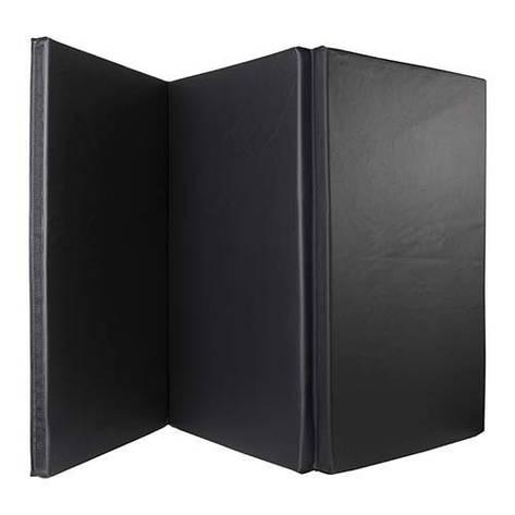 Мат (складной из 3-х частей ) 180*90*4см, черный, Celsius, фото 2
