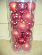 Елочные шары 24 шт. в упаковке ( диаметр 6 см ), фото 2