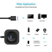 USB хаб/концентратор/разветвитель Robotsky на 4 USB 3.0 порта (Черный), фото 3