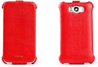 Кожаный чехол Nuoku ROYAL для HTC Sensation XL G21, красный