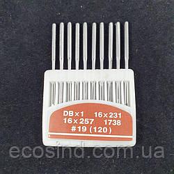 Иглы для промышленных машинок 97 класса №120 10шт. (СТРОНГ-0029)
