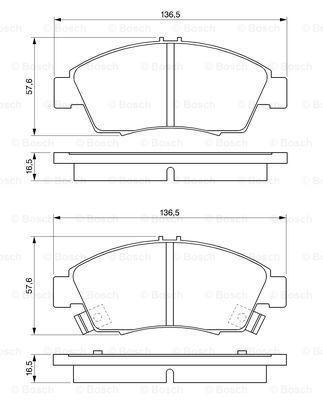Гальмівні колодки к-кт. HONDA CIVIC VII купе (EM2) 1991-2006 р.