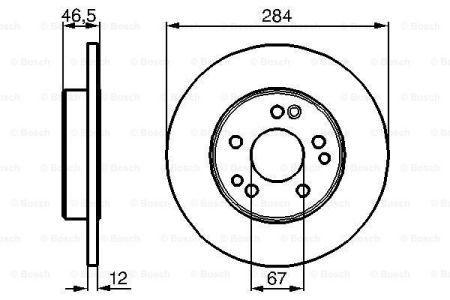 Тормозной диск MERCEDES-BENZ седан (W124) / MERCEDES-BENZ COUPE (C124) 1984-1996 г.