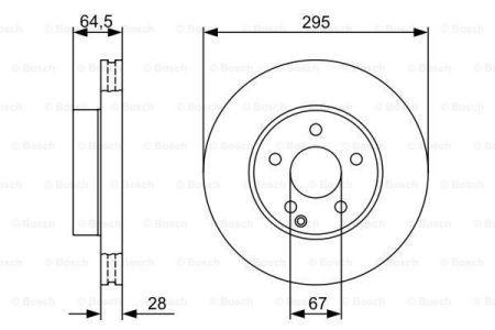 Гальмівний диск MERCEDES-BENZ SLC (R172) / MERCEDES-BENZ E-CLASS купе (C207) 2007-2015 р.