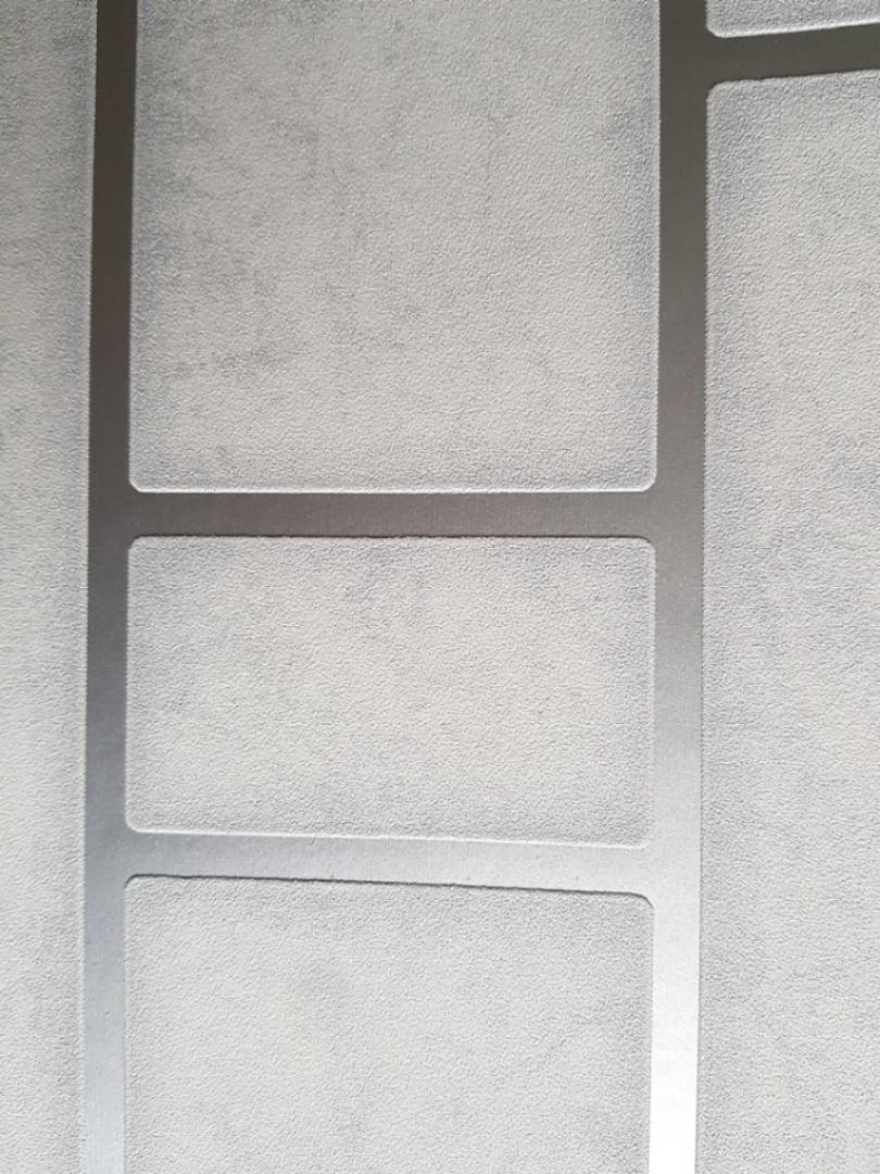 Обои виниловые на флизелине Marburg 31750 Imagine лофт штукатурка под бетон серые полосы фигуры серебром