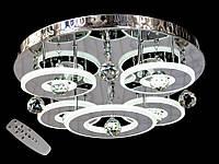 Светодиодная потолочная люстра с хрустальными подвесками с пультом-диммероми 5040-4+1 Dimmer, фото 1