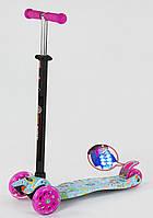 Детский самокат с рисунком и светящимися колесами Scooter Maxi