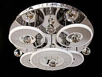 Светодиодная потолочная люстра с хрустальными подвесками с пультом 5040-4+1, фото 1