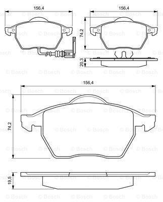 Тормозные колодки к-кт. VW BORA / AUDI TT Roadster (8N9) / AUDI A3 (8L1) 1988-2014 г.
