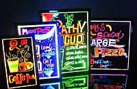 Доска для меню в кафе и рекламы с LED подсветкой 40x60см