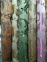 Легка шторна жакардова тканина з люрексовою ниткою, висота-2.80 м (на метраж, в рулонах), фото 6