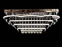 Светодиодная потолочная люстра с хрустальными подвесками с пультом B5045-700*500, фото 1