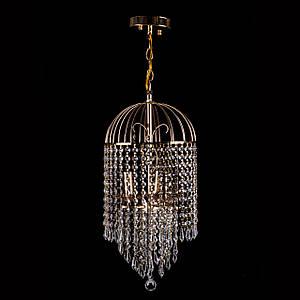 Кришталева люстра на ланцюгу класична на 3 лампочки P5-E1464/3
