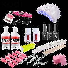 Стартовый набор для покрытия ногтей гель-лаком Kodi Professional с лампой Sun One 48 W и фрезер-ручкой