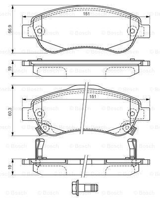 Тормозные колодки к-кт. HONDA CR-V IV (RM_) / HONDA CR-V III (RE_) 2006- г.