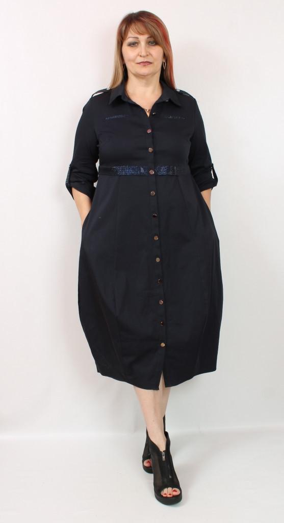 Турецкое женское платье рубашка зауженное к низу, размеры 48-54