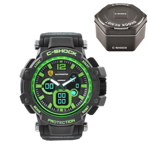 Часы наручные C-Shock GW-4500 Black-Green+Box