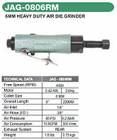 Бормашинка пневматическая патрон 6мм, 4000 об/мин, 300 л/м Jonnesway JAG-0806RM