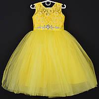 """Платье нарядное детское """"Диадема"""". 5-6  лет. Желтое. Оптом и в розницу, фото 1"""