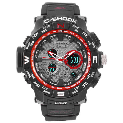 Часы наручные C-Shock MTG-S1000 Black-Red