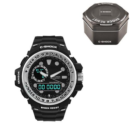 Часы наручные C-Shock GWN-1000GB Black-Silver+Box