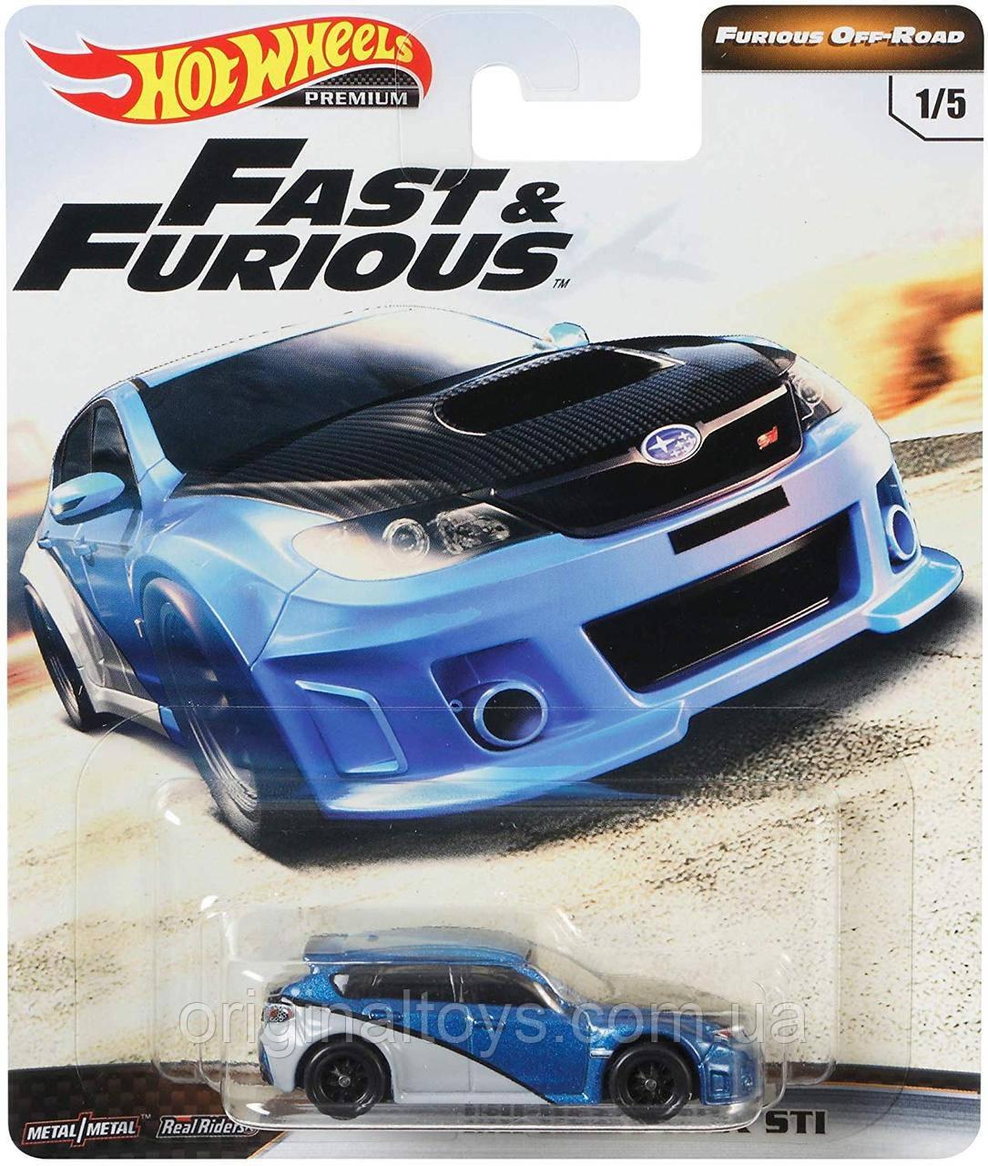 Коллекционная модель Hot Wheels Subaru wrx STI