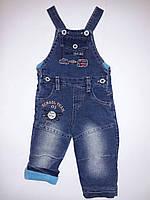 Комбинезон Oxford12м мал. синий джинс+флис J2899 SANI Турция 80(р)