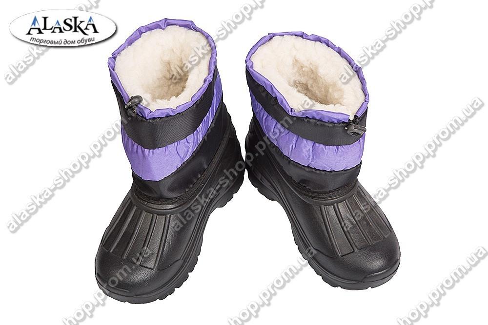 Детские сапожки (Код: ТС полосатик фиолет)