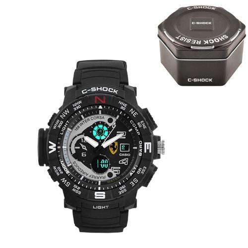 Часы наручные C-Shock Ferrari Inter Corsa Black-Grey+Box