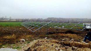 Монтаж наземних металоконструкцій.