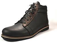 Распродажа последний размер 48 черные ботинки зимние мужские кожаные Rosso Avangard 1093296209