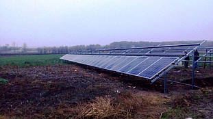 Установка сонячних панелей.