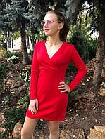 Платье женское короткое из ангоры с запахом на груди (К29387), фото 1