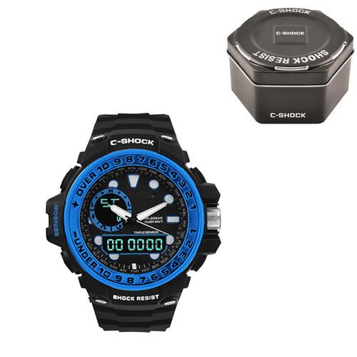 Часы наручные C-Shock GWN-1000GB Black-Blue+Box
