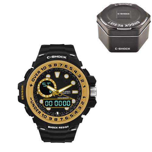 Часы наручные C-Shock GWN-1000GB Black-Gold+Box