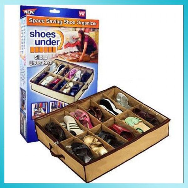 Компактный органайзер для хранения обуви Shoes Under Server